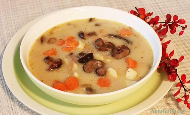 Zupa z grzybami leśnymi, 1