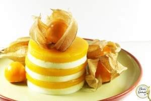 Aksamitne serniczki z musem z mango