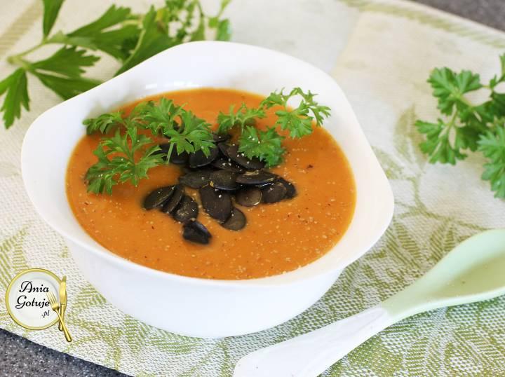 Kremowa zupa z dyni i batatów, 1