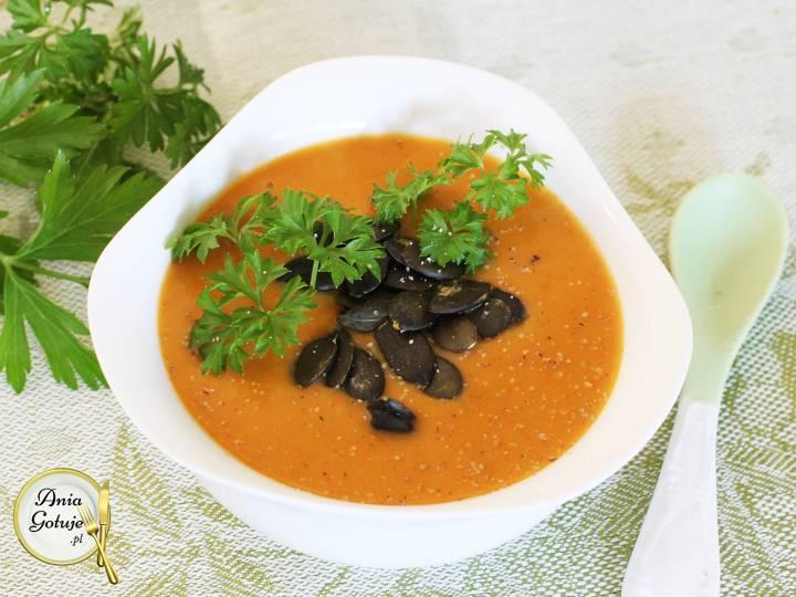 Kremowa zupa z dyni i batatów, 2