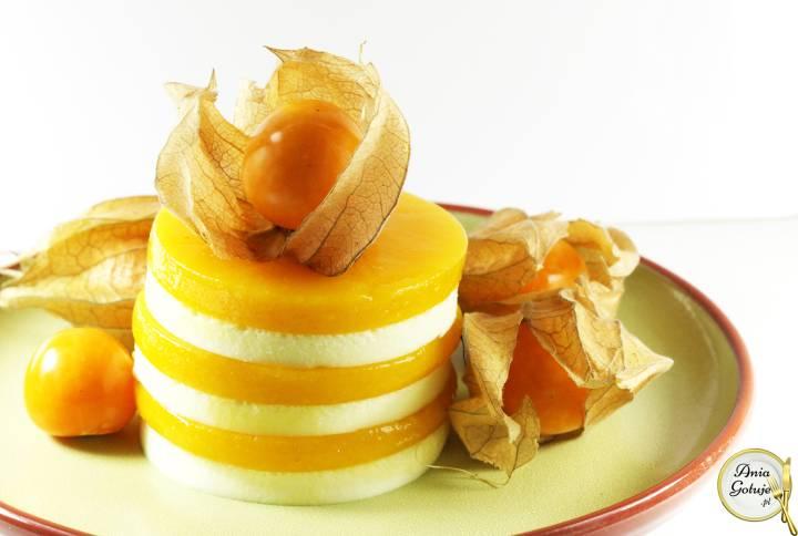 Aksamitne serniczki z musem z mango, 1