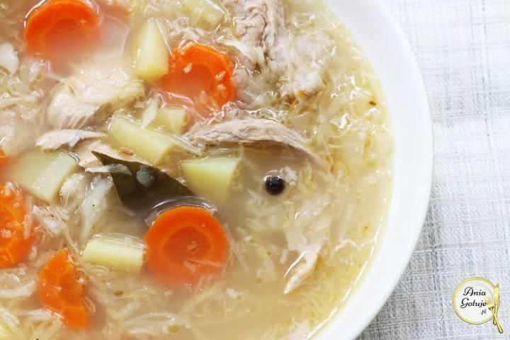 Zupa kapuśniak na żeberkach, 1