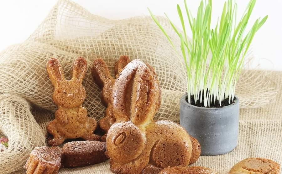 Wielkanocne króliczki z prosem preparowanym