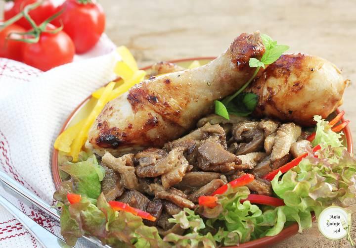 Pałki kurczaka z boczniakami w nerkowcach, 1