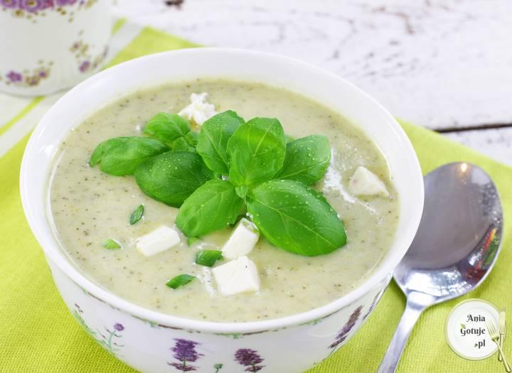 Zupa krem brokułowo-cukiniowa, 2