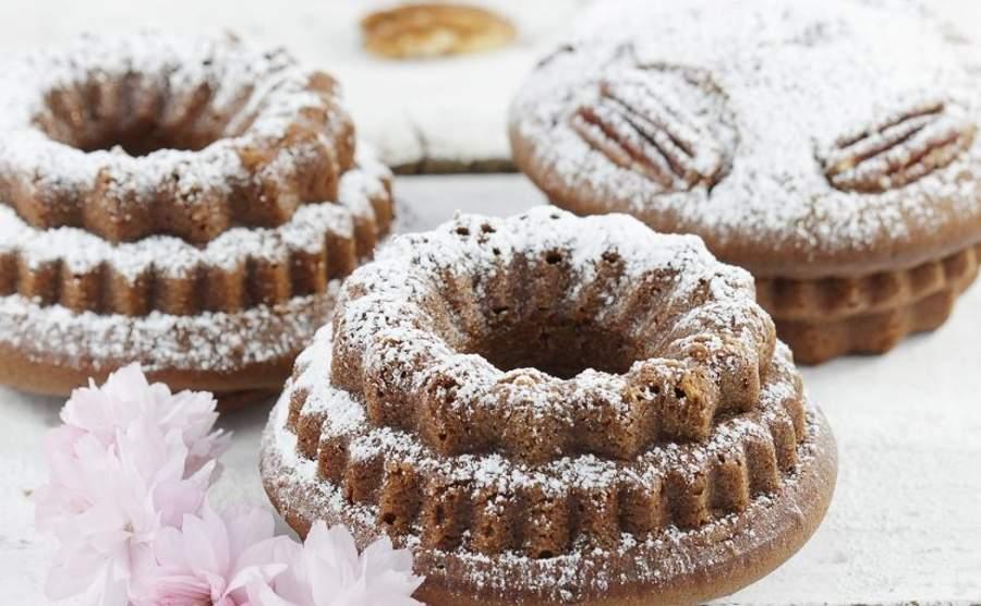 Maxi babeczki czekoladowe z orzechami pekan