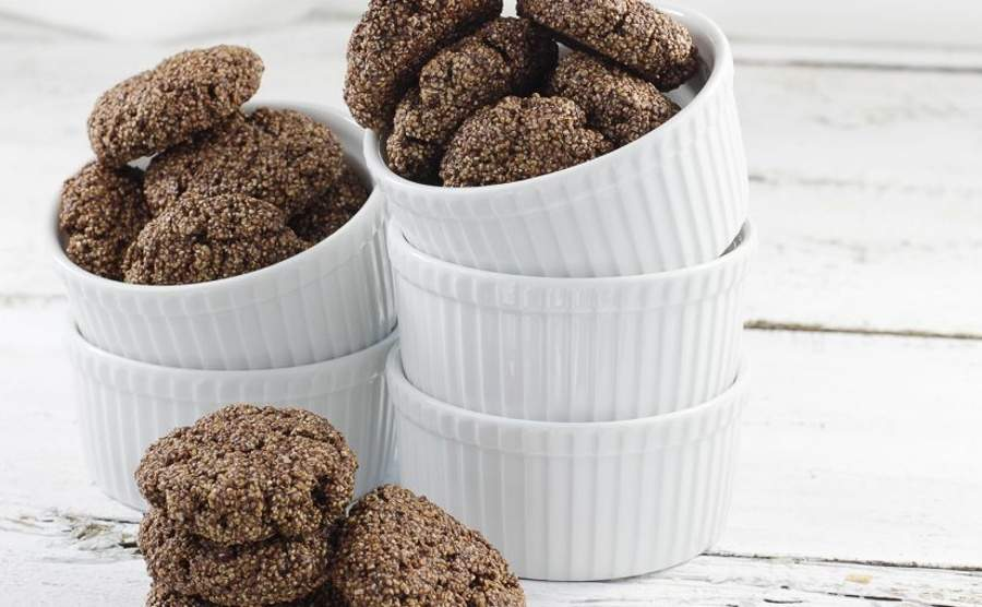 Ciasteczka amarantuski kakaowe
