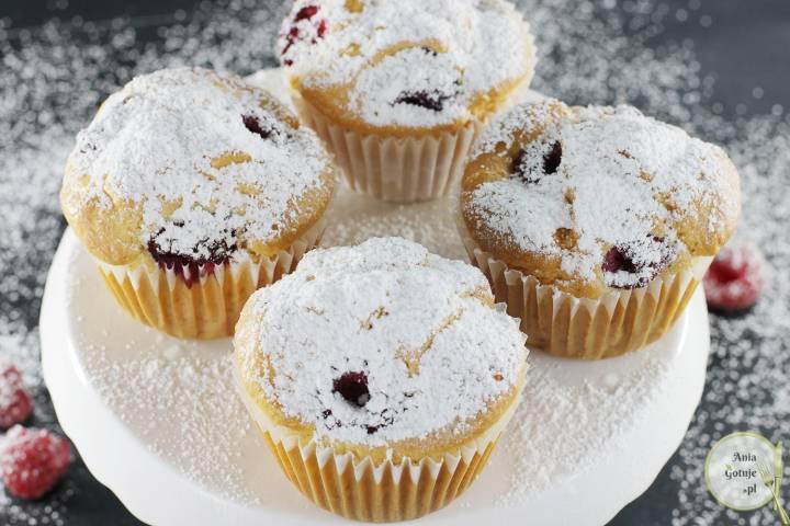 Proste muffiny z malinami, bez cukru, 1