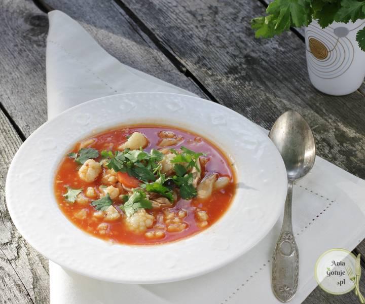 Zupa kalafiorowo pomidorowa, 1
