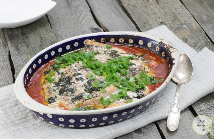 Łosoś pieczony w pomidorach, 2