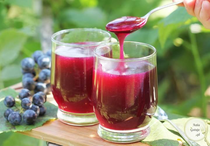 Domowy kisiel z winogron, 2