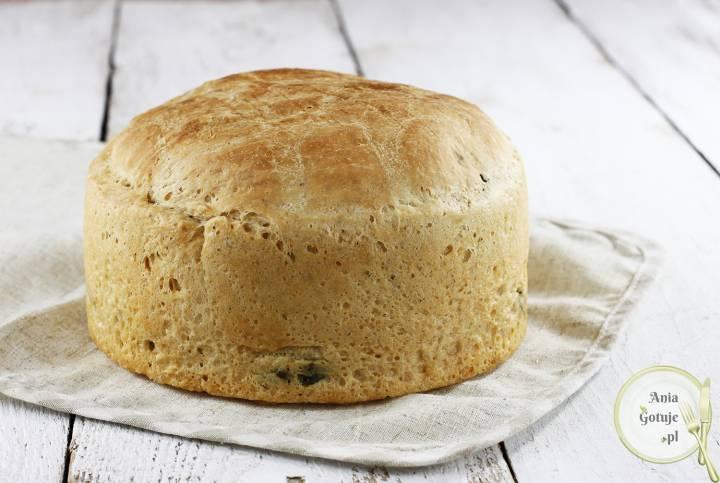 Leniwy chleb pszenny ze szpinakiem, 1