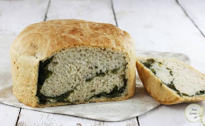 Leniwy chleb pszenny ze szpinakiem, 2