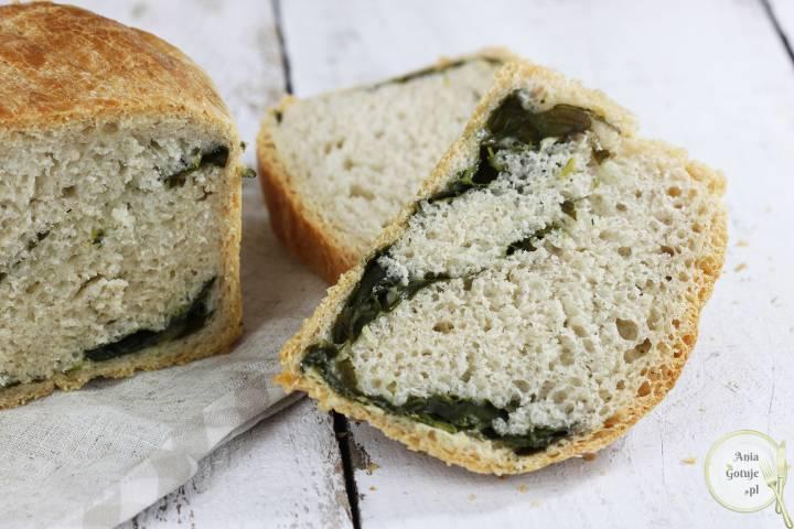 Leniwy chleb pszenny ze szpinakiem, 3
