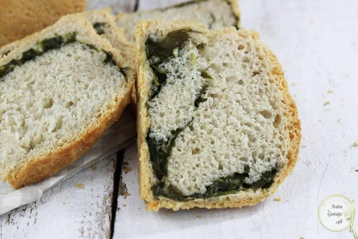 Leniwy chleb pszenny ze szpinakiem, 4