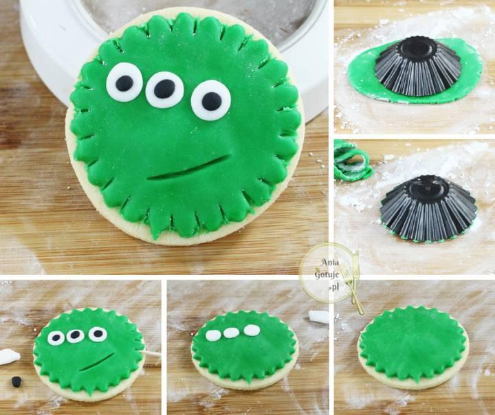 Halloween - ciasteczka z potworami, 3