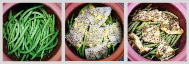 Gjuwecz - halibut pieczony z dzikim ryżem i fasolką, 1