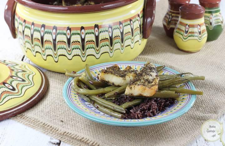 Gjuwecz - halibut pieczony z dzikim ryżem i fasolką, 4