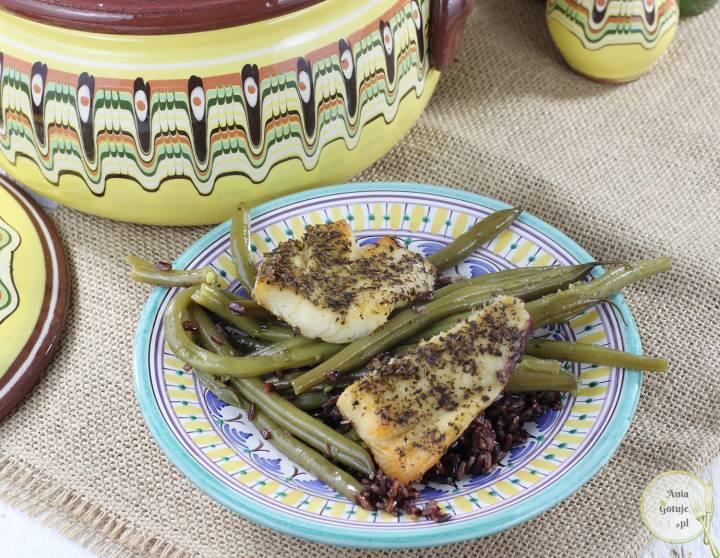 Gjuwecz - halibut pieczony z dzikim ryżem i fasolką, 5