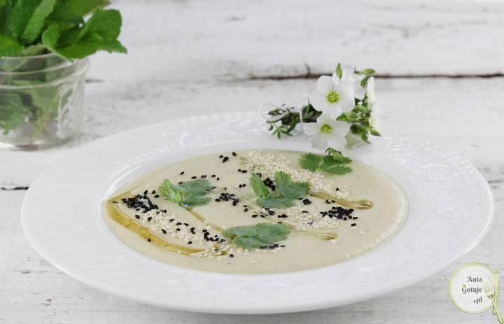 Zupa krem z topinamburu i ciecierzycy, 2