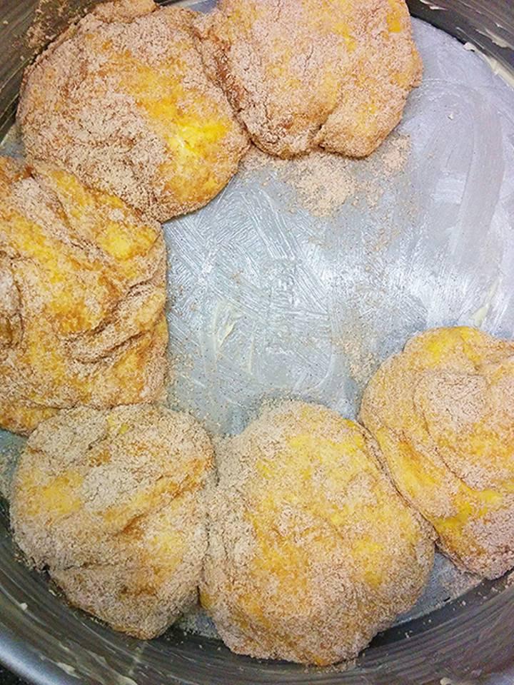 Ciasto drożdżowe z dynią i cynamonem, 1