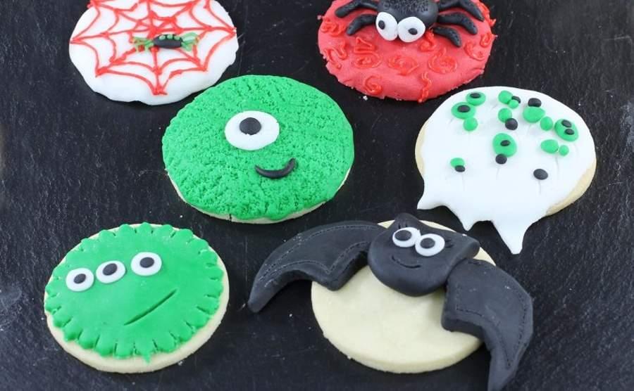 Halloween - ciasteczka z potworami