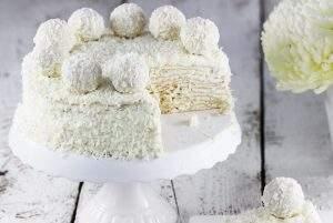 Tort Raffaello na andrutach