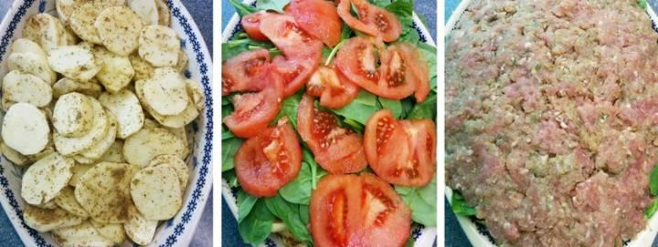 Warstwowa zapiekanka z mięsem i ziemniakami, 1