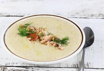 Zupa krem z łososia