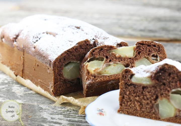 Ciasto kakaowe z gruszkami, 2