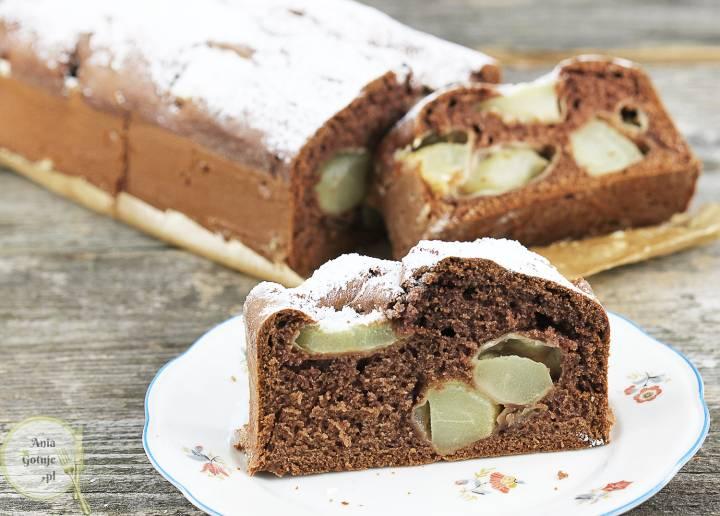 Ciasto kakaowe z gruszkami, 3