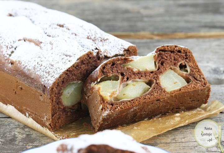 Ciasto kakaowe z gruszkami, 4