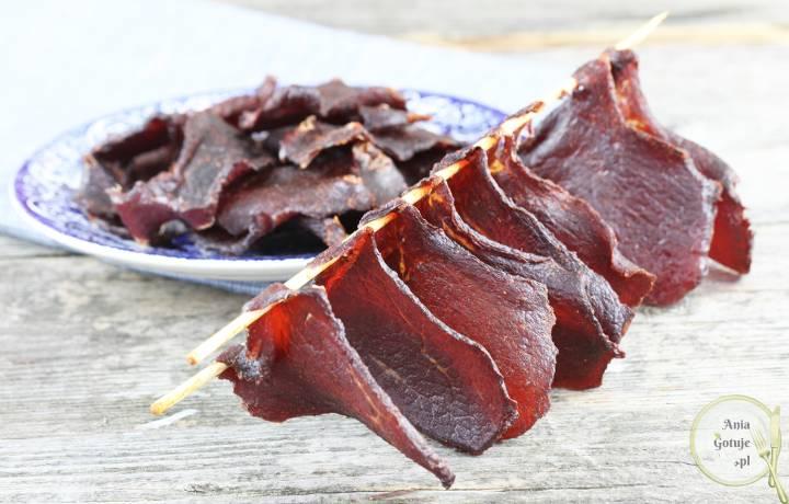 Domowe beef jerky - suszona wołowina, 4