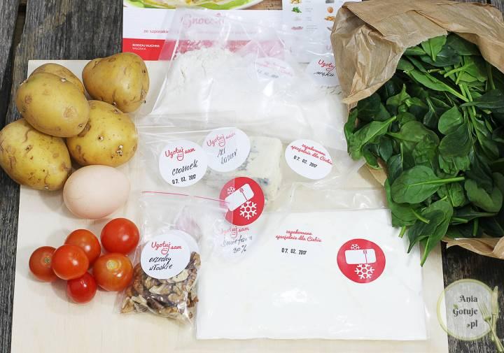Gnocchi ze szpinakiem i pomidorami w sosie serowym, 6