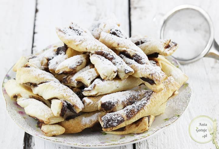 Czekoladowe spiralki z ciasta francuskiego, 2