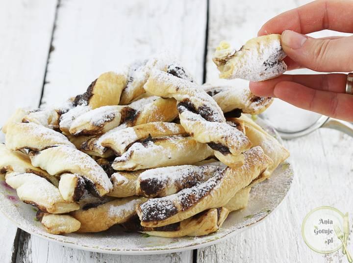 Czekoladowe spiralki z ciasta francuskiego, 3