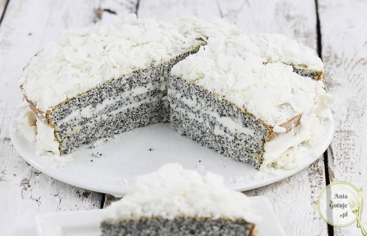 Pół biszkopt białkowy z makiem do tortów, 4
