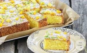 Cytrynowe ciasto kisielowe
