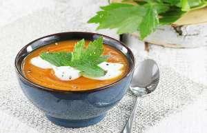 Delikatna zupa krem z batatów