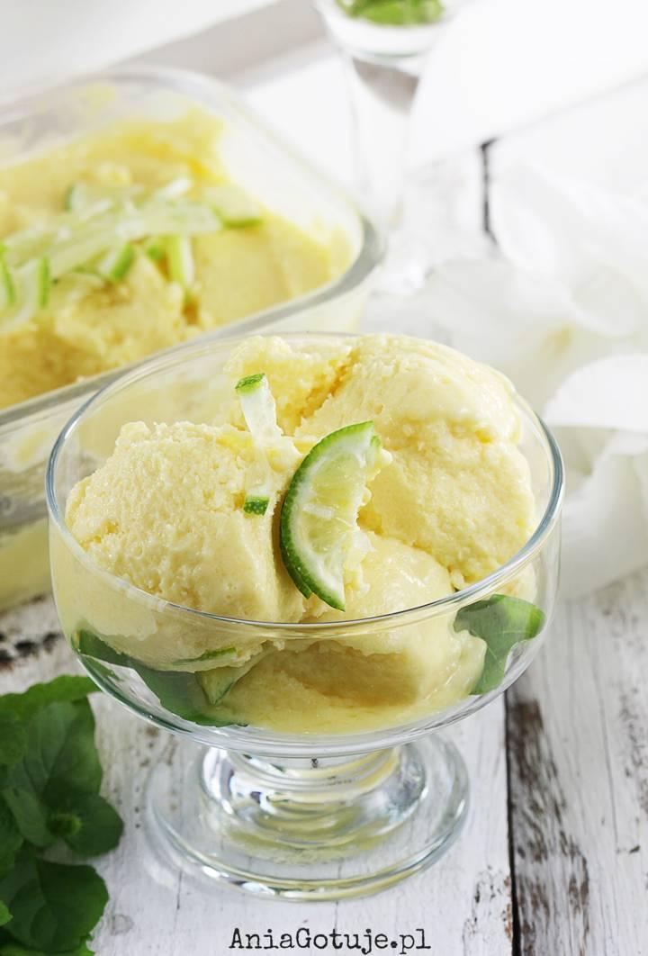 Lody jogurtowe z mango i limonką, 1