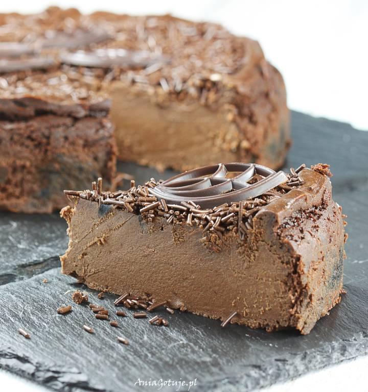 Sernik czekoladowy jak z bajki, 1