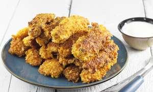 Nuggetsy z kurczaka panierowane w nachos