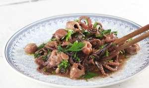 Ośmiorniczki smażone w oliwie z czosnkiem