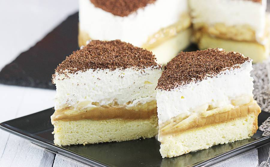 Ciasto banoffee na biszkopcie