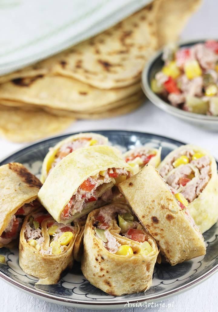 Roladki z tortilli z tuńczykiem i kukurydzą, 1