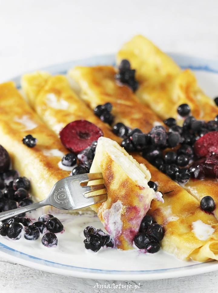 Naleśniki z serem i owocami, 6
