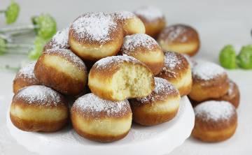 Mini pączki drożdżowe tradycyjne