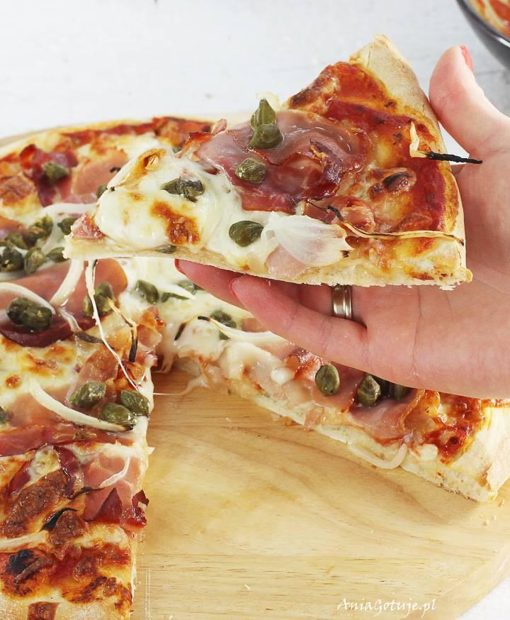 Pizza z szynką parmeńską i kaparami, 6