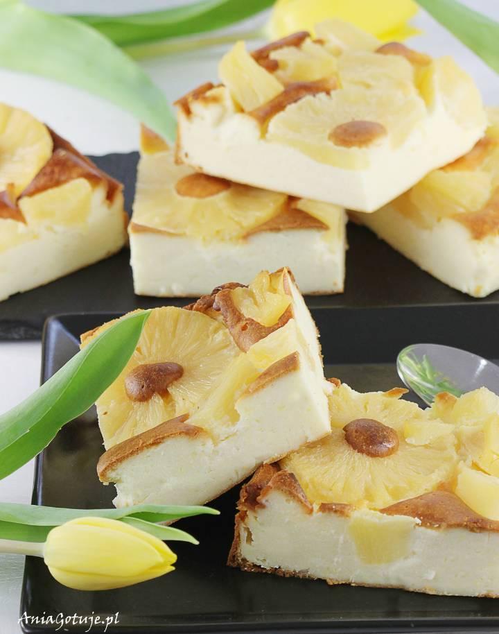 Prosty sernik budyniowy z ananasem, 1