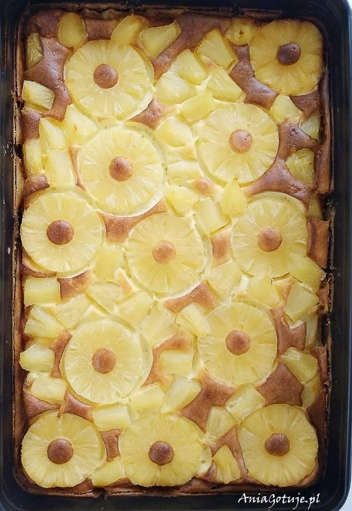 Prosty sernik budyniowy z ananasem, 6
